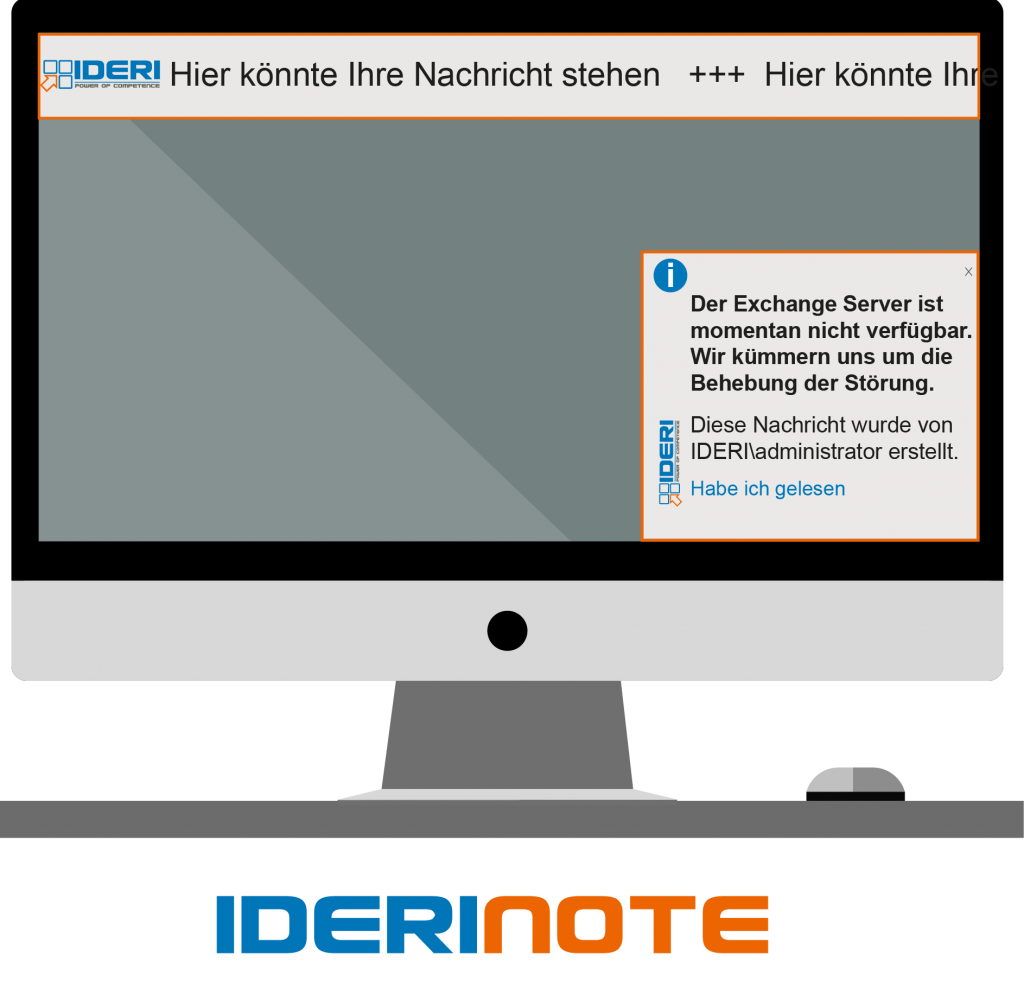Desktop Alarmierung und Benachrichtigung durch Ticker oder Popup direkt auf dem Bildschirm