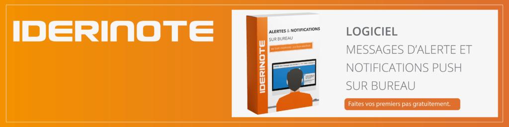 Bannière alerte et notifications push